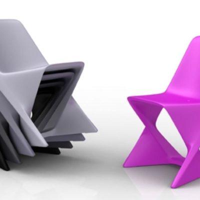 Pop Design Kunststoff Stuhl ISO Von QUI EST PAUL Frankreich