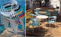 Kunststoff-Armlehnstuhl  SERENA von  Gaber Design, Italien