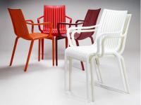 Designer Kunststoffstuhl OPEN von Gaber Design, Italien