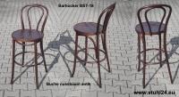 Bugholz-Barhocker im Thonet-Stil