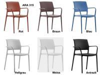 Kunststoff-Armlehnstuhl  ARA 315  von PEDRALI Design, Italien