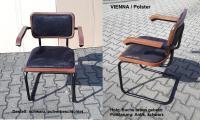 Bauhaus Freischwinger VIENNA, CESCA, gepolstert