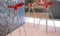 4-Fuß-Barhocker FROG von SCAB Design, Italien