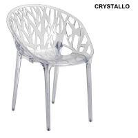Designer Kunststoffsessel CRYSTALLO