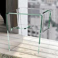 Designer Glas-Beistelltisch PROTEO