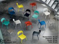 Designer Kunststoff-Stuhl GIPSY von BONTEMPI, Italien