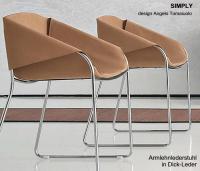 Leder-Armlehnstuhl SIMPLY von Tonin Casa, Italien