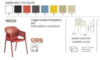 Kunststoff-Armlehnstuhl MINUSH von GABER Design