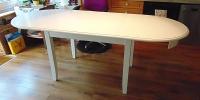 4-Fuß-Esstisch, Oval, 90 x 140 cm, + 2 Einlagen