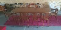 4-Fuß-Esstisch FELIKS, 100 x 160 cm, + 2 Einlagen, oval