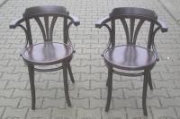Bugholz-Armlehnstuhl im Thonet-Stil mit Rundsitz