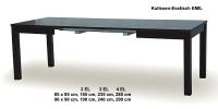 Kulissen-Esstisch EMIL, quadratisch, bis 4 Einlagen