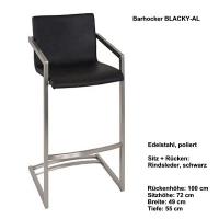 Zeitloser Barhocker BLACKY-AL