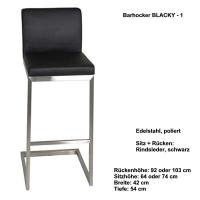 Freischwinger Barhocker / Tresenhocker BLACKY